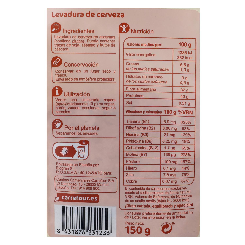Levadura de cerveza Carrefour 150 g. -