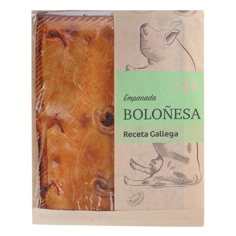 Empanada rectangular boloñesa Carrefour 600 g. - 2