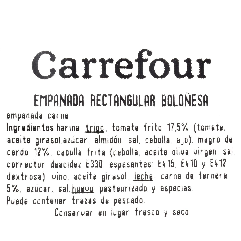 Empanada rectangular boloñesa Carrefour 600 g. - 3