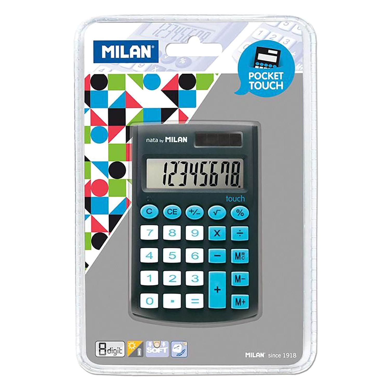 Calculadora Escolar Milan Pocket Touch Color Negro