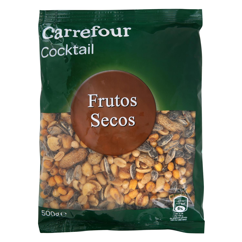 Cocktail de frutos secos Carrefour 500 g.