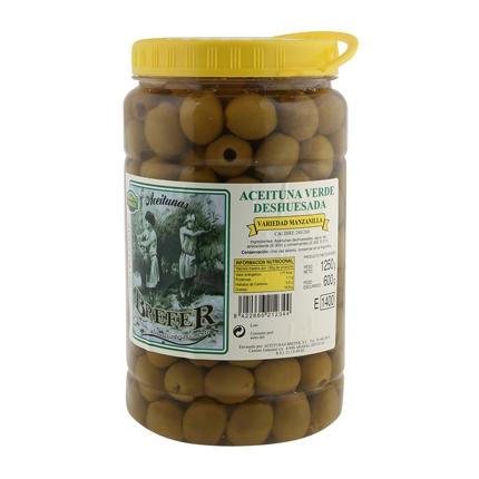 Aceitunas verdes sin hueso Brefer 800 g.