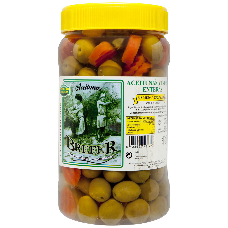 Aceituna gazpacha Brefer 800 g.