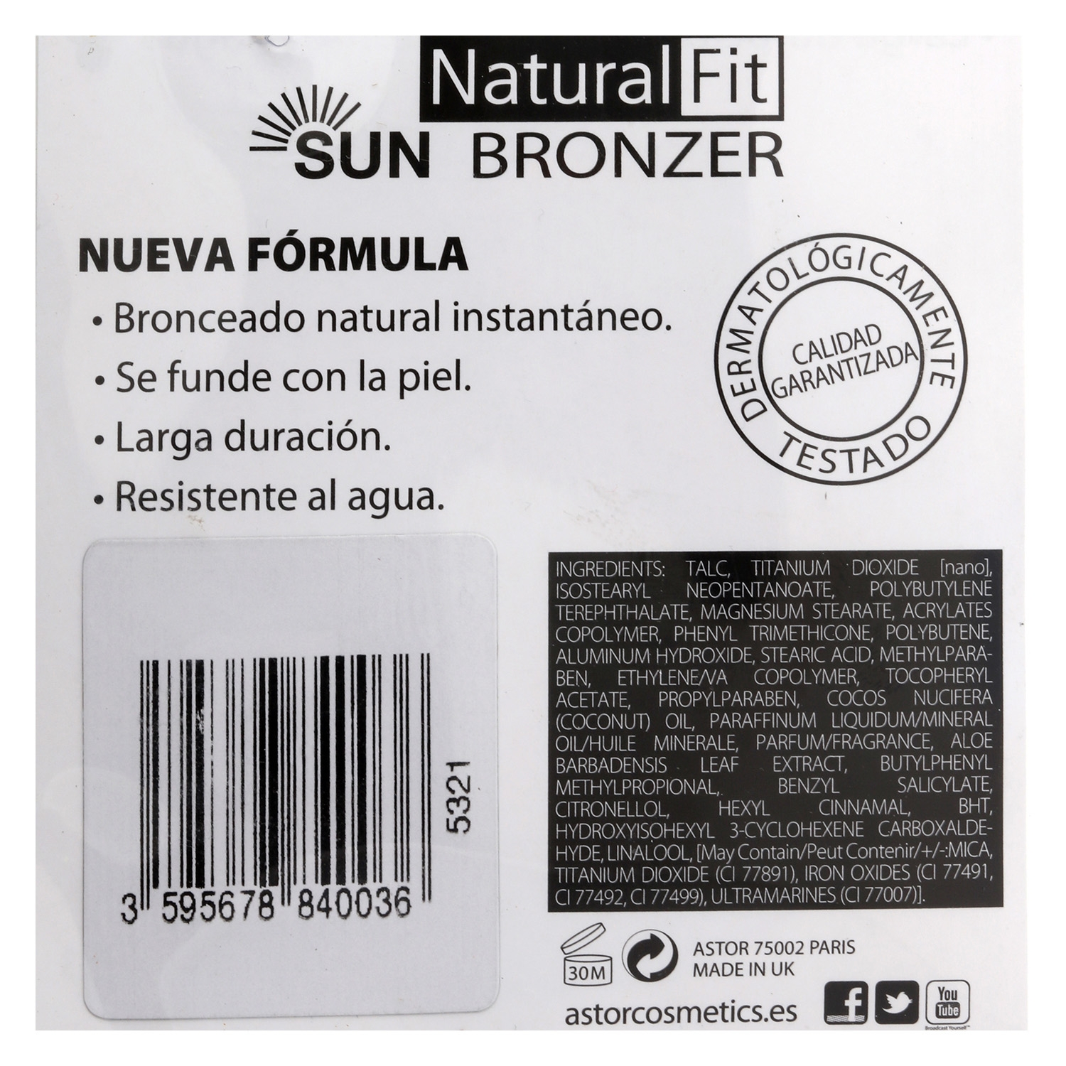 Polvos bronceadores Natural Fit -