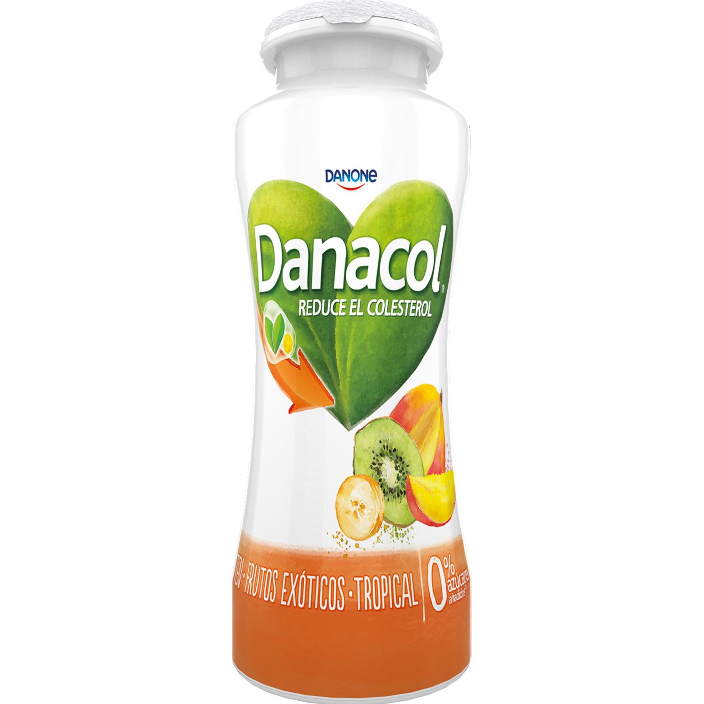 Yogur líquido tropical Danone Danacol pack de 6 unidades de 100 g. - 2