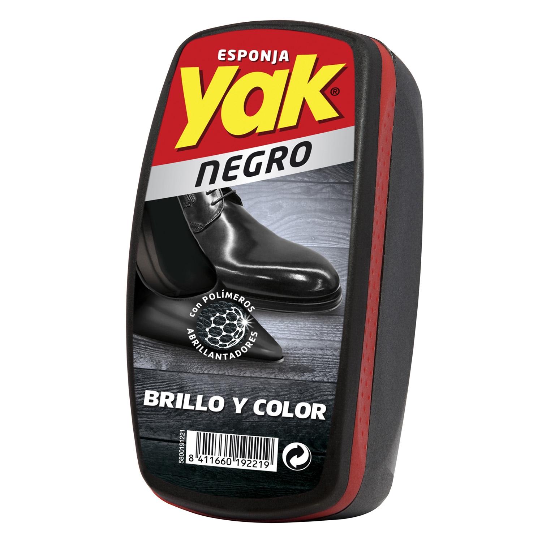 Esponja de calzado color negro Instant Yak 1 ud.