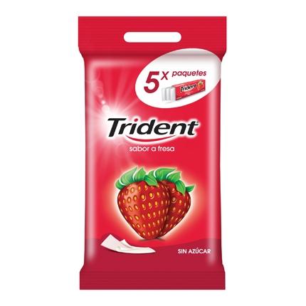 Chicles sabor fresa Trident  5 paquetes de 13,6 g.