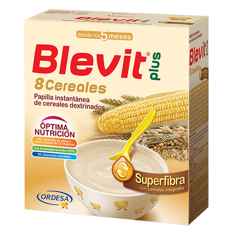 Papilla de 8 cereales Blevit plus Superfibra 600 g.