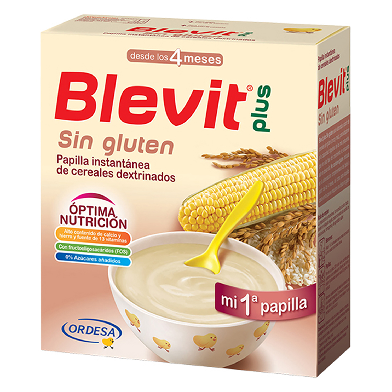 Papilla de cereales sin gluten