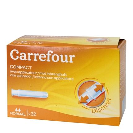 Tampones con aplicador Normal Carrefour 32 ud.