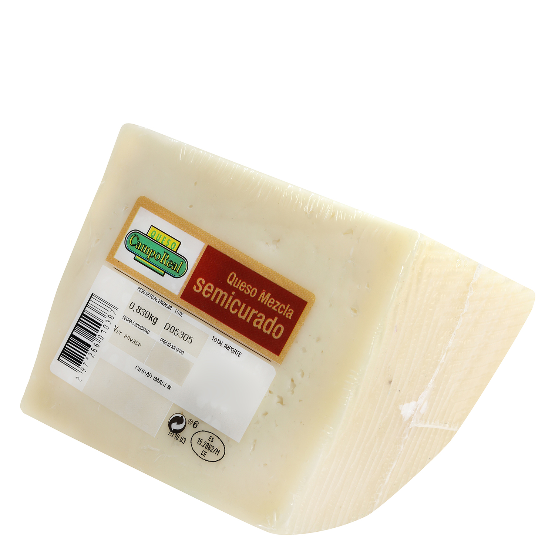 Queso semicurado mezcla Camporeal cuña 1/4, 830 g aprox - 2