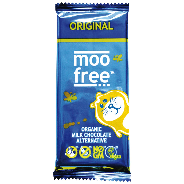 Chocolate con leche ecológico Moo Free sin gluten y sin lactosa 100 g.
