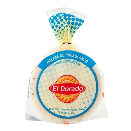 Arepa de maiz blanco El Dorado 5 ud.