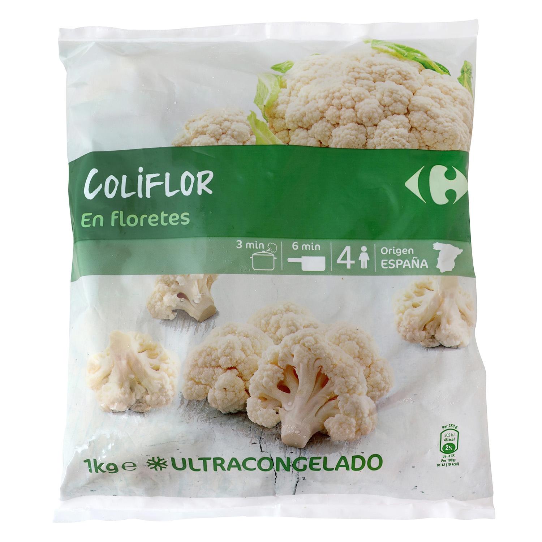 Coliflor congelada Carrefour 1 kg.