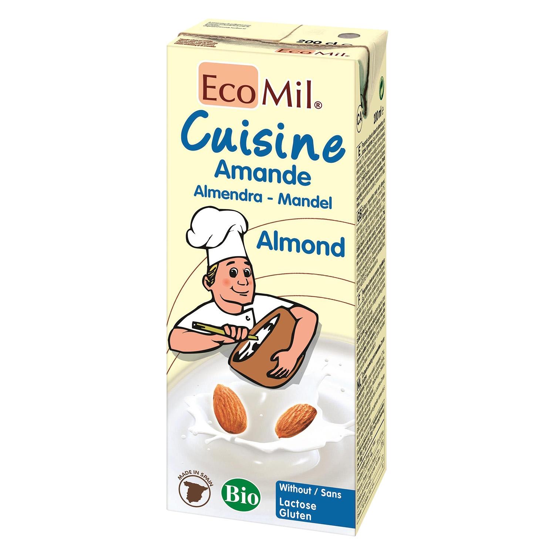 Preparado alimenticio de almendras ecológico EcoMil sin gluten sin lactosa 200 ml.