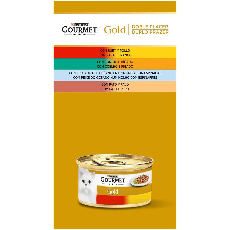 Purina Gourmet Gold Comida Húmeda para Gato Doble Placer Surtido 12x85g -