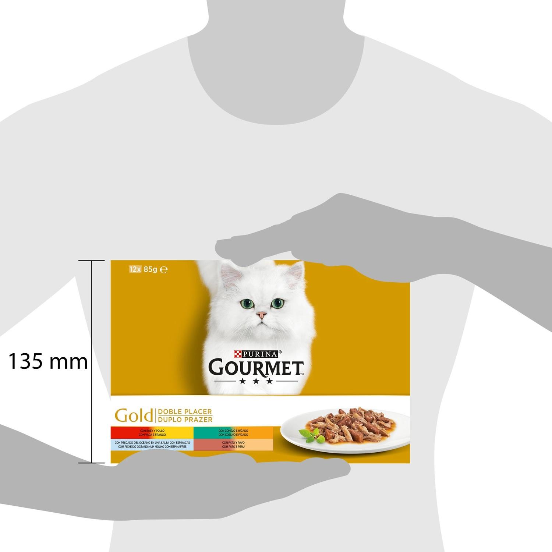 Purina Gourmet Gold Comida Húmeda para Gato Doble Placer Surtido 12x85g - 3
