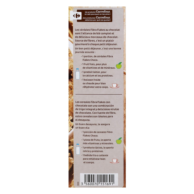 Cereales con chocolate Fibra  Carrefour 500 g. -