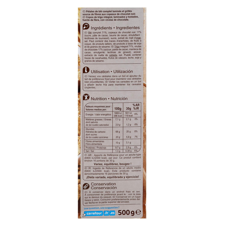 Cereales con chocolate Fibra  Carrefour 500 g. - 2