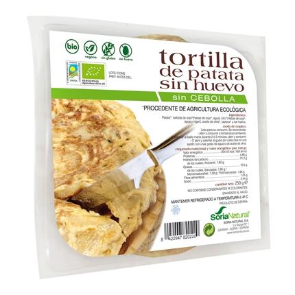 Tortilla de patata sin cebolla bio sin gluten