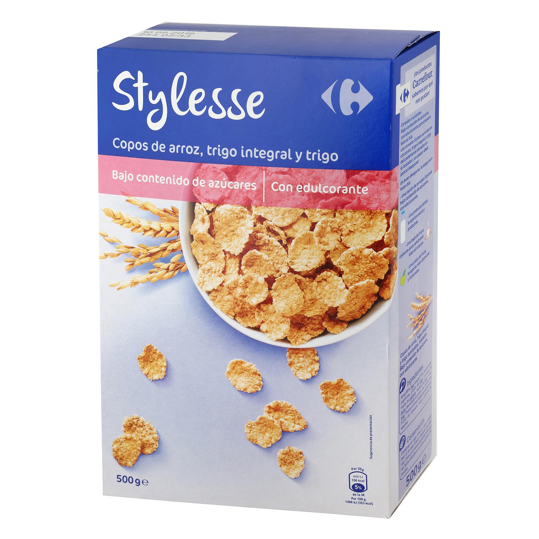 Copos de arroz y trigo integral Stylesse Carrefour 500 g.