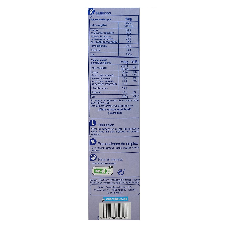 Copos de arroz y trigo integral Stylesse Carrefour 500 g. -