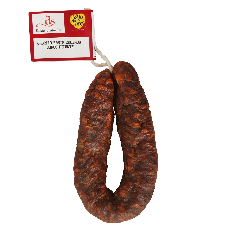 Chorizo sarta extra picante cruzado raza Duroc Hidisa 1/3 pieza 450 g aprox