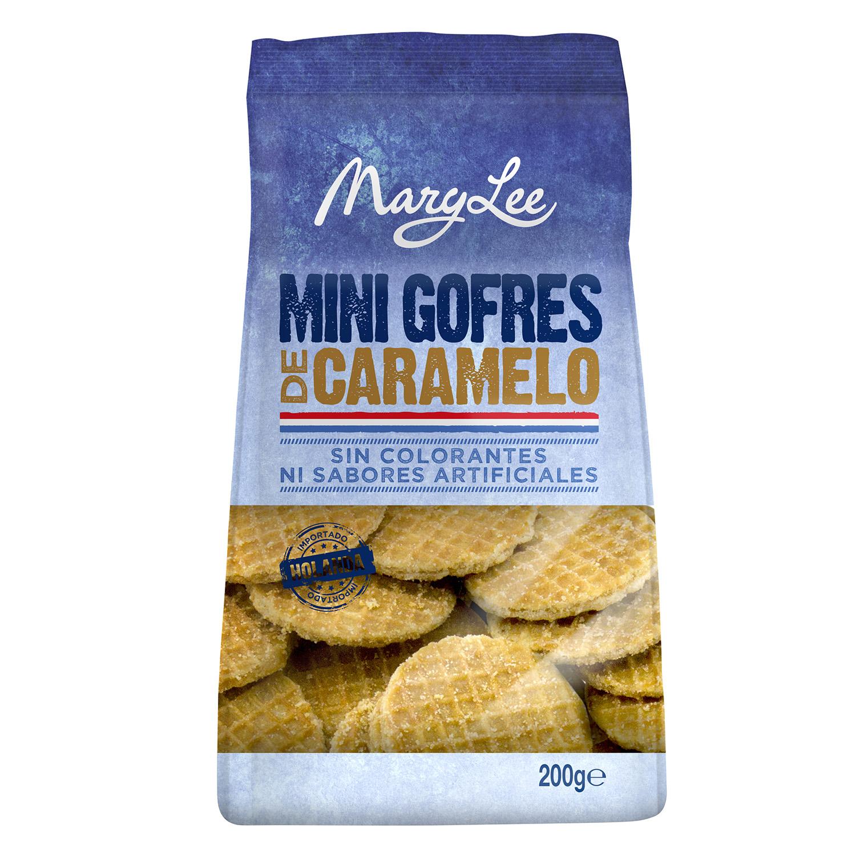 Mini gofres de caramelo Mary Lee 200 g.