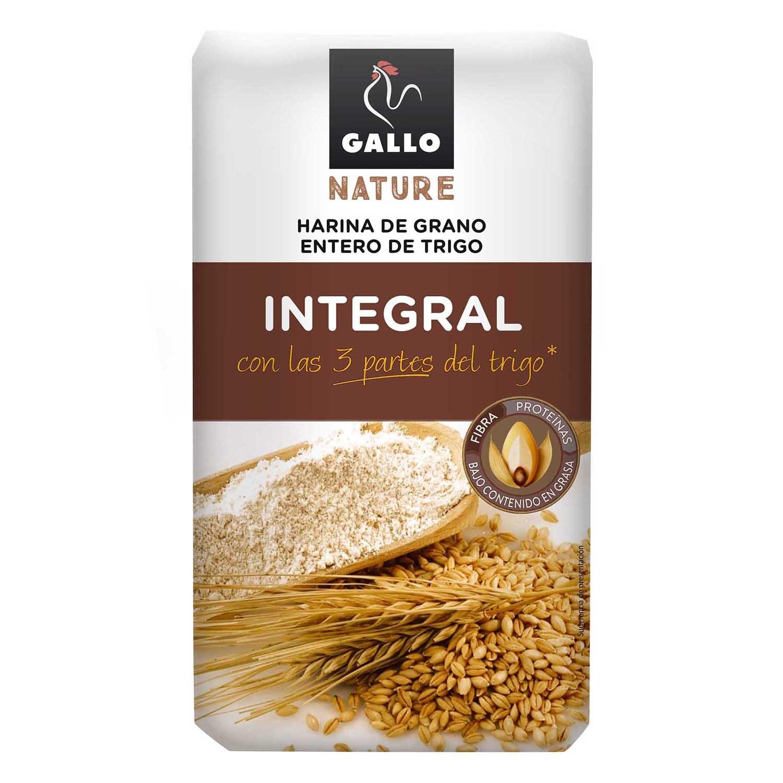 Harina de trigo Gallo integral 1 kg.