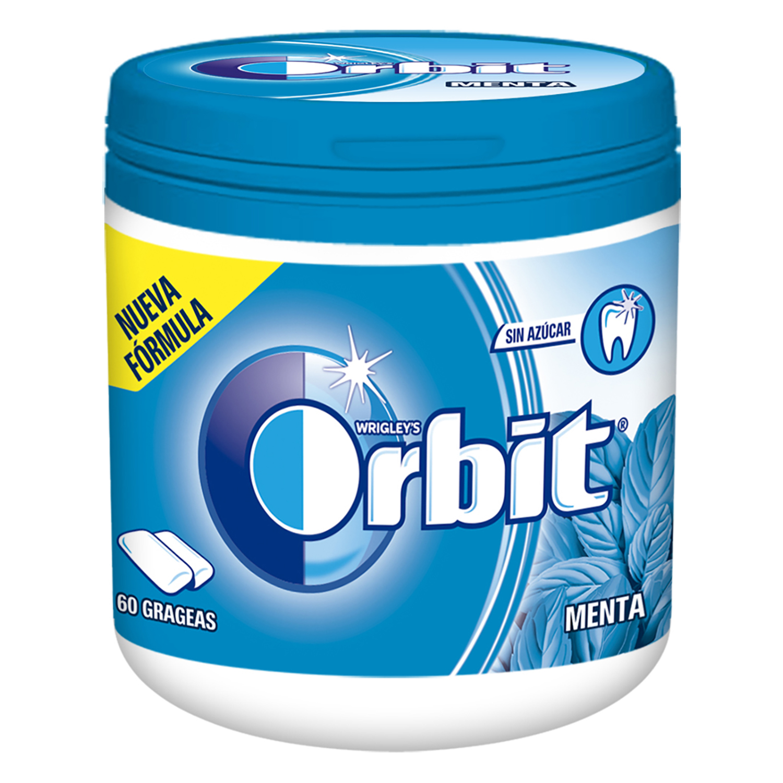 Chicles sabor menta Orbit 60 ud.