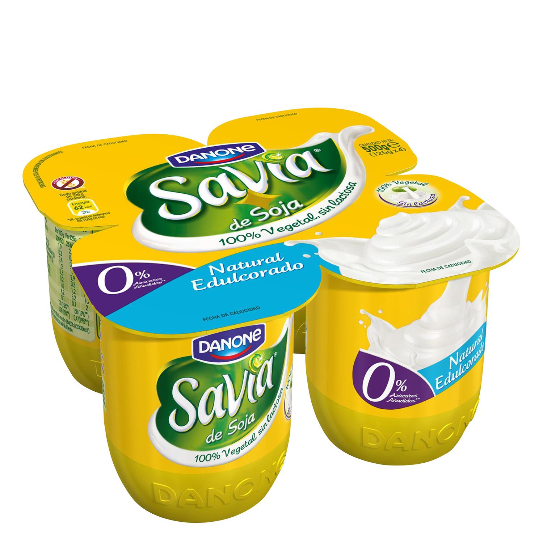 Yogur natural edulcorado de soja
