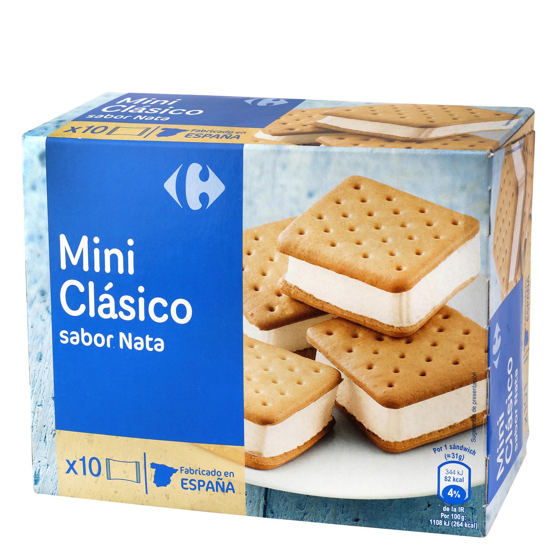 Mini sandwich de nata Carrefour 10 ud.
