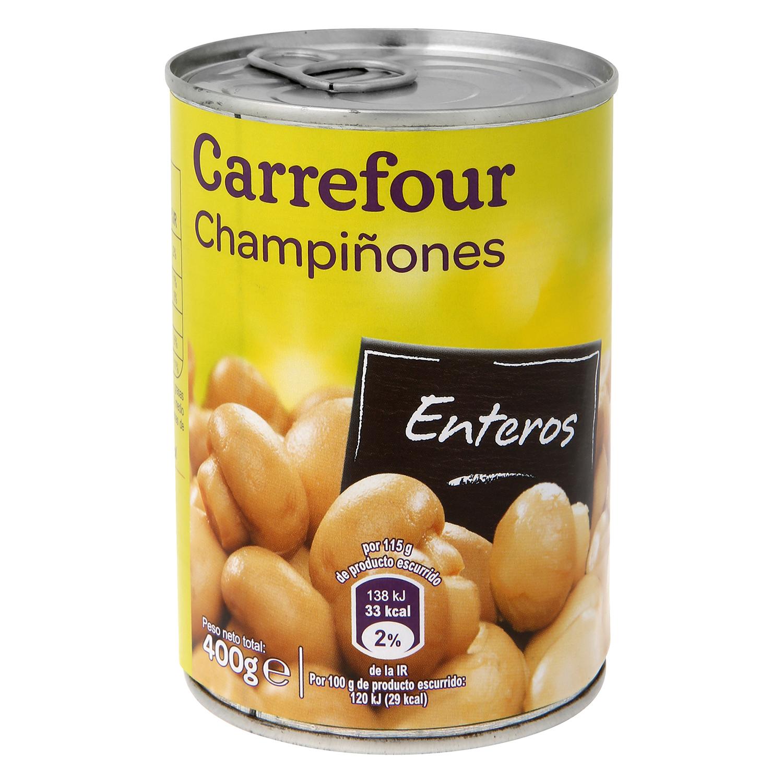 Champiñones enteros Carrefour 230 g.