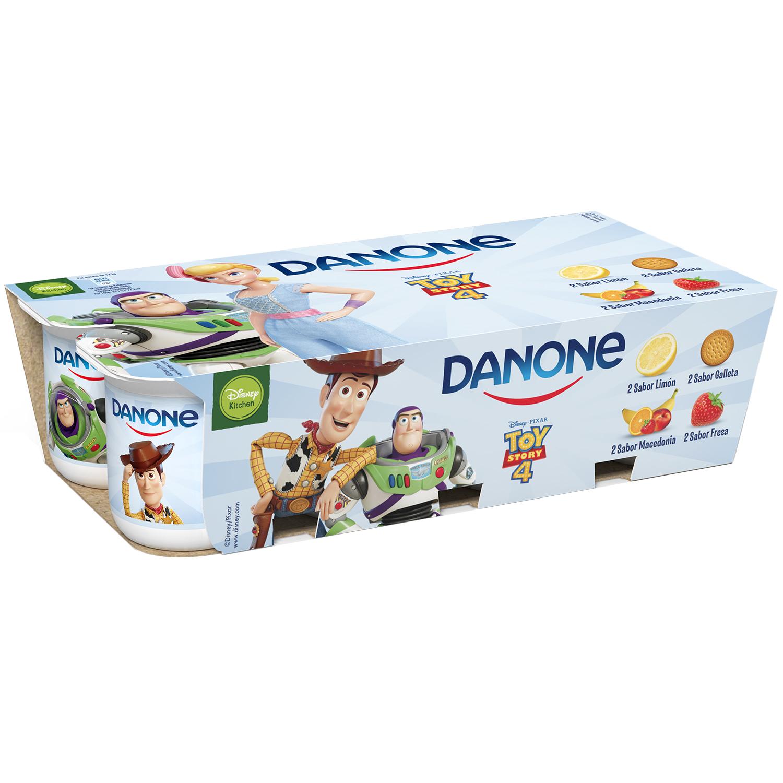 Yogur de sabores Danone pack de 8 unidades de 125 g.
