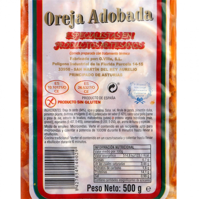Oreja de Cerdo Adobada O.Villa 500 g - 3