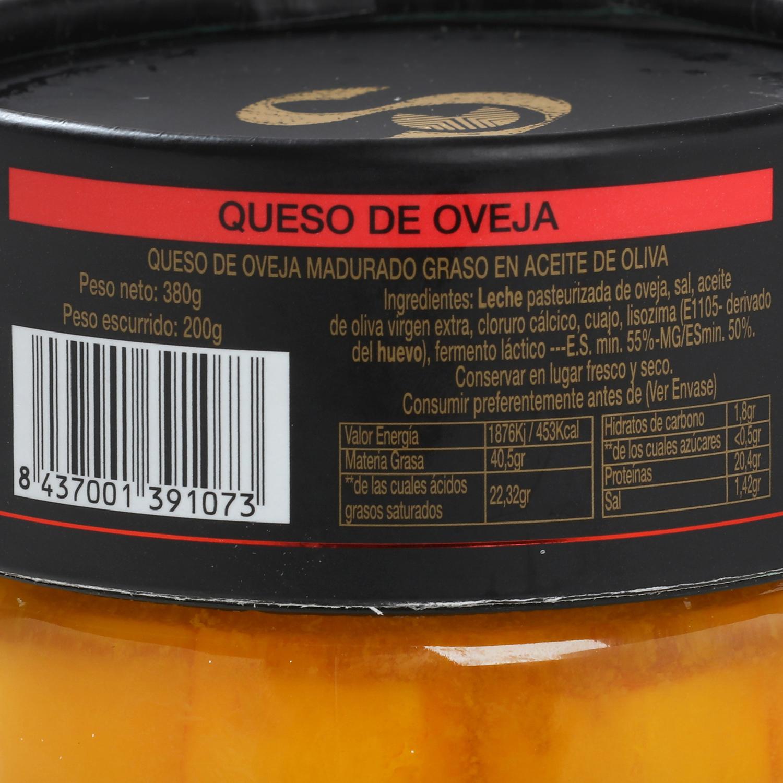 Queso curado de oveja en aceite de oliva Vegasotuelamos tarro de 400 g - 3