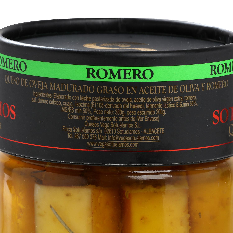 Queso curado de oveja en aceite de oliva y romero Vegasotuelamos tarro de 400 g - 3