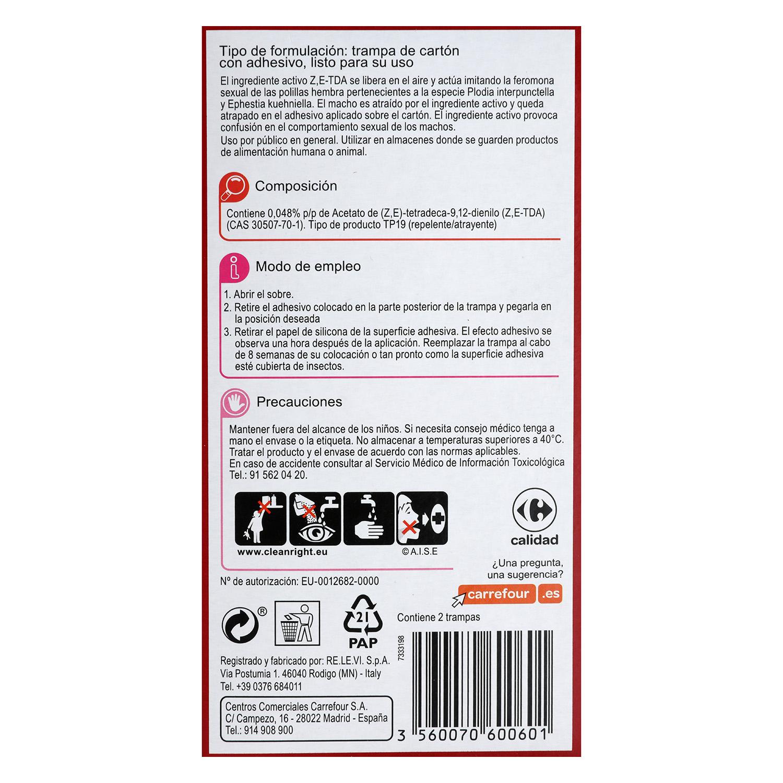 Trampa detectora de polillas de los alimentos Carrefour 1 ud. -