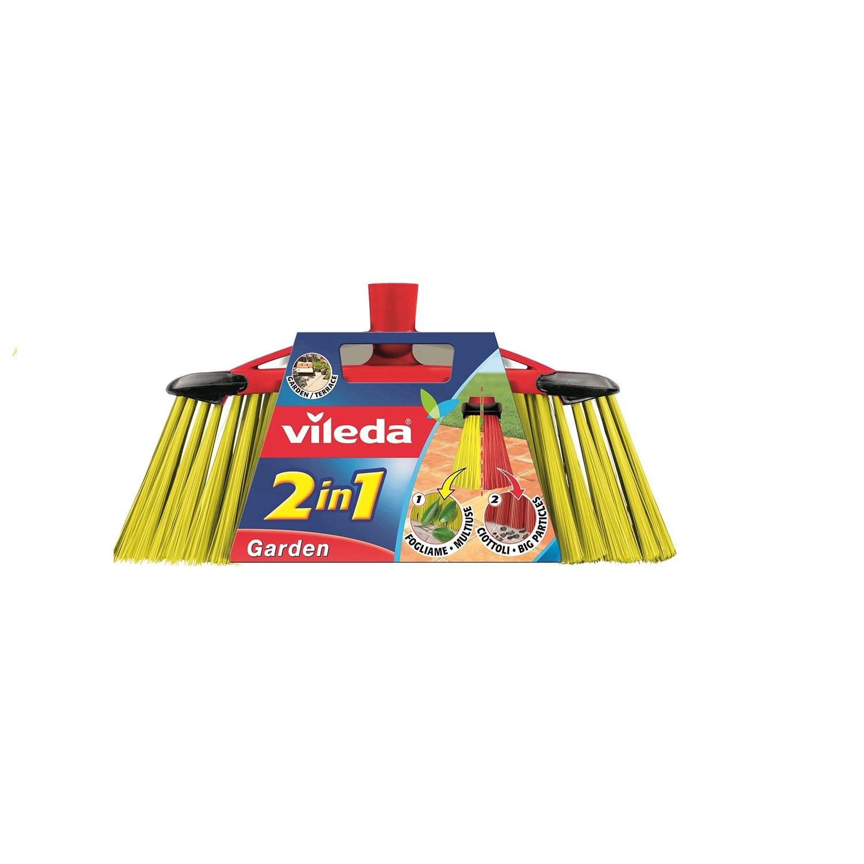 Cepillo de exterior Garden 2en1 Vileda  - Rojo