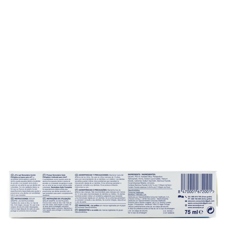 Dentífrico para dientes sensibles Acción Completa Sensodyne 75 ml. - 2