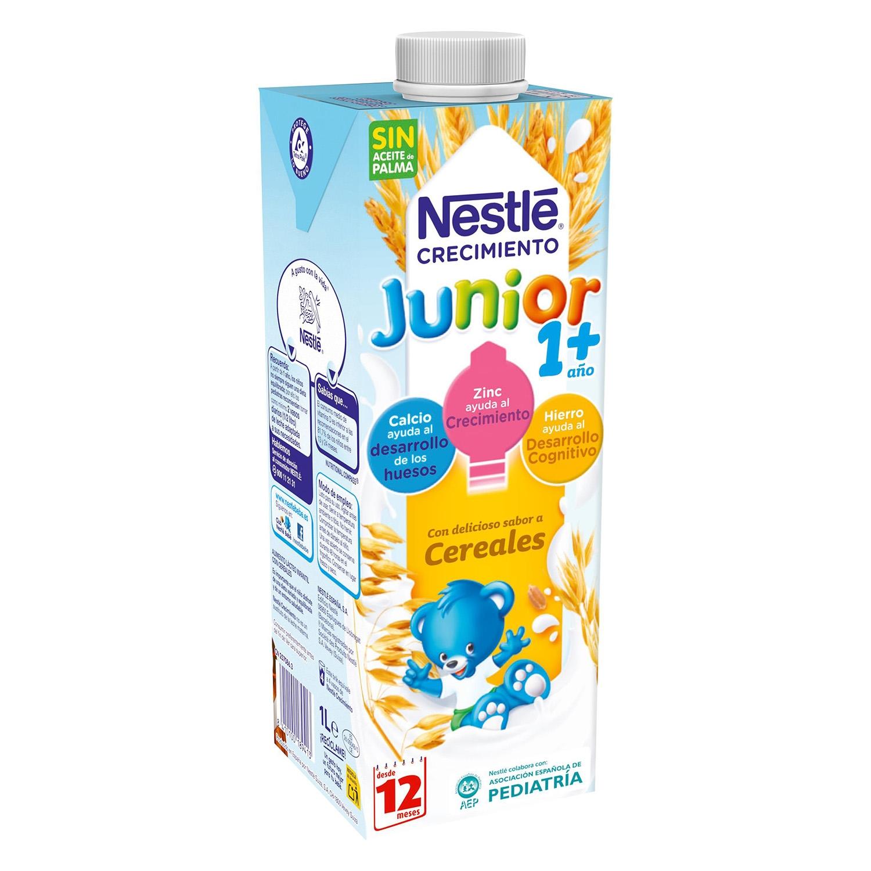 Leche de crecimiento con cereales líquida Nestlé Junior 1 l.