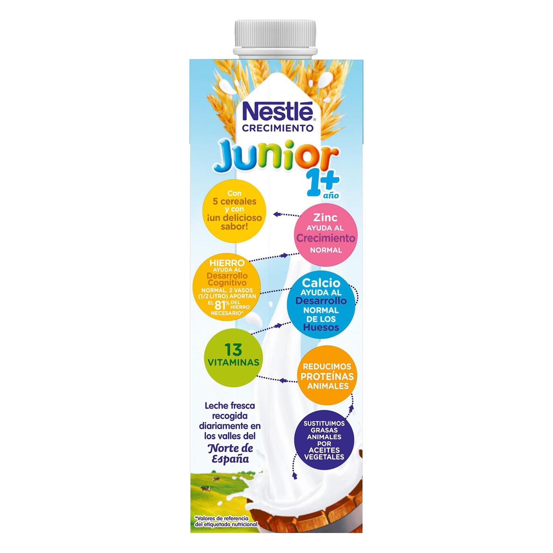 Leche de crecimiento con cereales líquida Nestlé Junior 1 l. - 3