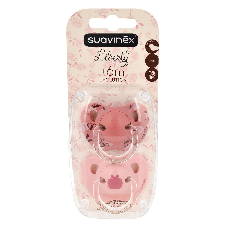 Chupete rosa tetina anatómica Suavinex 2 ud.