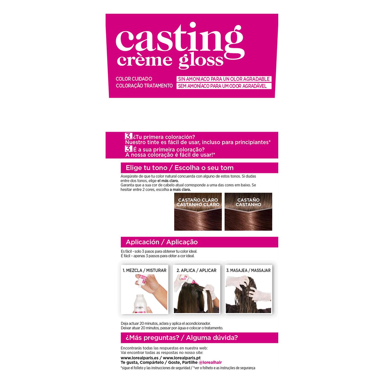 Tinte Créme Gloss nº 500 Castaño Claro L'Oréal Casting 1 ud. -
