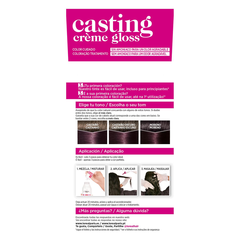 Tinte Créme Gloss nº 316 Violin L'Oréal Casting 1 ud. -
