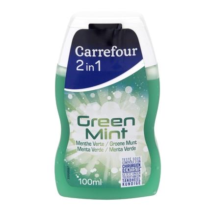 Dentífrico 2 en 1 Menta Carrefour 100 ml.