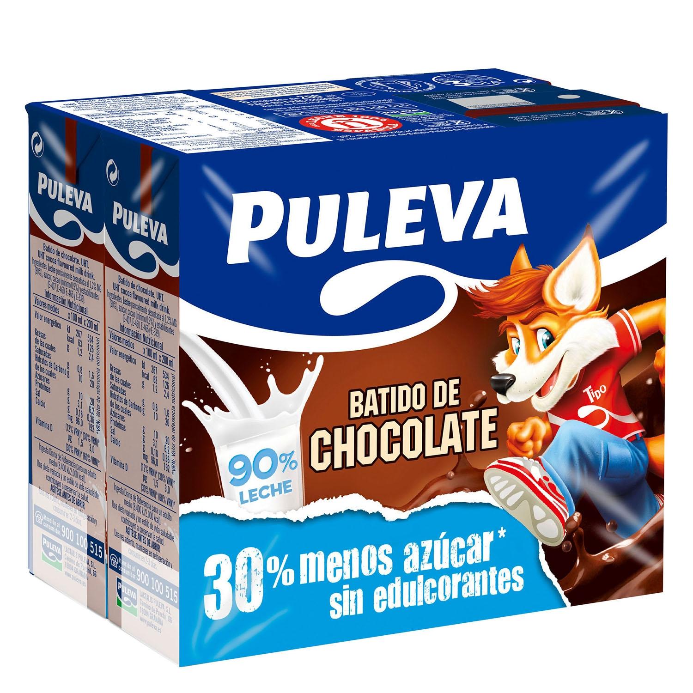 Batido de chocolate Puleva pack de 6 briks de200 ml.