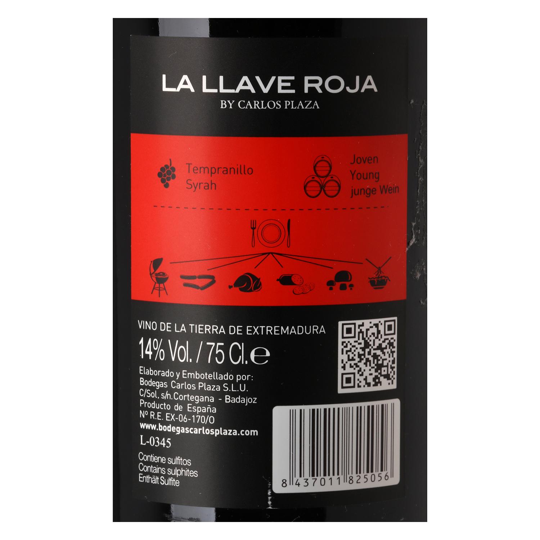 Vino de Extremadura tinto tempranillo - Syrah -