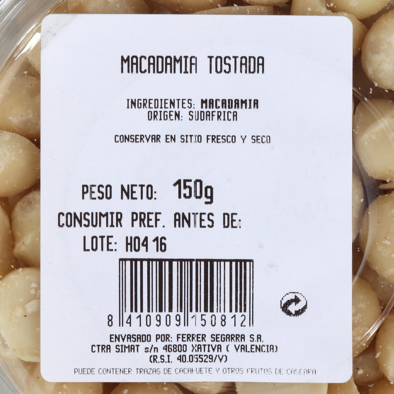 Macadamia tostada -