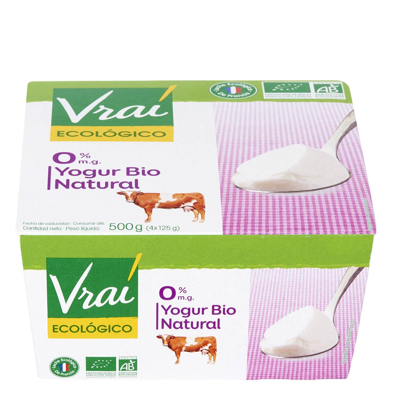 Yogur natural 0% ecológico